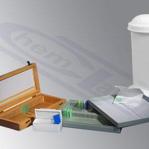 Stiklelių saugojimo ir dažymo dėžutės